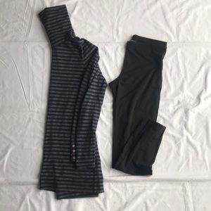 LOFT long sleeve striped turtleneck tunic